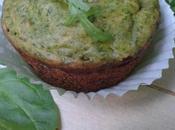 Muffins tout verts (épinards roquette) coeur chèvre