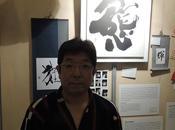 découverte shodo avec Uehira Bakei lors Japan Expo