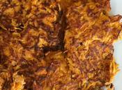 Galettes patates douces parmesan