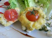 Muffin tomate cerise mozzarella basilic
