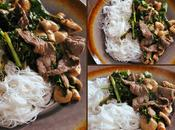 Stir-Fry boeuf gingembre, champignons chou kale