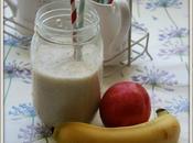 Smoothie lait noisette, banane nectarine
