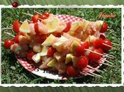 Brochettes poulet citron tomates cerises