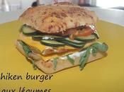 Chiken burger légumes