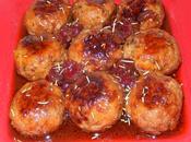 Boulettes viande farcies griottes pistaches (sucré-salé)