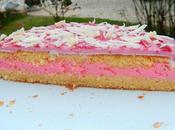 Gâteau fourré crème marshmallow fraise