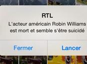 Triste nouvelle (Robin Williams)