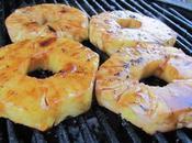 Anneaux d'ananas marinés grillés barbecue