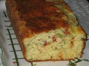 Cake tomates séchées, mozzarella basilic