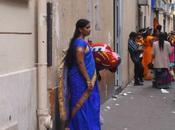 fête indienne Ganesh Chaturthi. Couleurs mouvements pour voyage Inde plein Paris (Paris