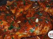 Poulet mijoté tomate champignons