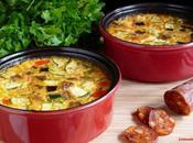 Flan legumes soleil chorizo