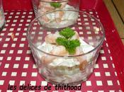 verrine concombre crevettes