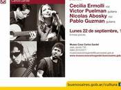 Guitares voix soir Museo Casa Carlos Gardel l'affiche]