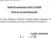 Conseil municipal septembre
