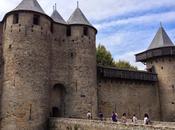 Carcassonne château, promenade soir