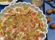 Clafoutis d'automne figues raisins, noix noisettes