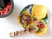 Tacos maison galettes maïs, guacamole boeuf oignons