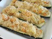Courgettes farcies crevettes lait coco
