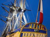 Reportage photo L'Hermione mouille l'ancre dans port lune Bordeaux... bateau pour remonter temps