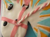 Gâteau cheval pour l'anniversaire fille