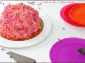 Rose cake Pinata smartie's