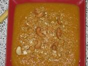 Soupe carottes lait coco noix cajou