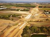 Contournement Nîmes-Montpellier chantier poursuit route