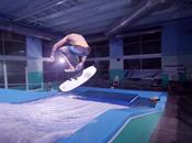 Skate surfing indoor with Devin Graham