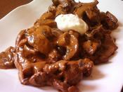 Boeuf strogonoff champignons crème