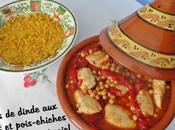 Blancs dinde poivrons pois-chiches sauce tomate miel