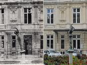 """jolie statue """"Vigne"""" dans cour d'honneur l'Hôtel Ville époques"""