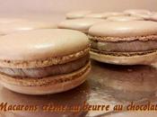 Macarons crème beurre chocolat