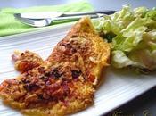 Omelette lardons-poivron