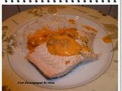 Pavé saumon sauce chorizo