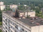 drone survole Pripyat, ville fantôme Tchernobyl