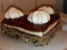 gâteau noisettes onctueux noir blanc