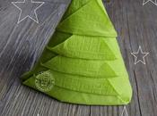 Pliage serviette forme sapin Noël