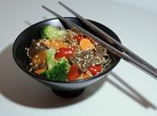 Nouilles sautées légumes faux-bœuf sauce Teriyaki