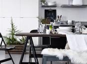 jolies choses Noël table blanc, noir vert Ikea