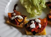 Carrés polenta croustillants potimarron rôti