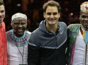VIDÉO. Caritatif: Roger Federer Wawrinka régalent lors Match pour l'Afrique