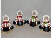 Marque-place avec p'tit père Noël porcelaine froide