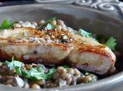 Escalopine foie gras lentilles