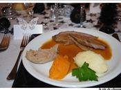 Gigue chevreuil sauce poivrade purees