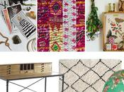 create boho creative workspace