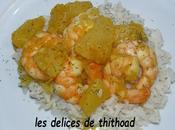 curry gambas l'ananas