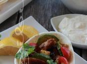 ~Tortillas poulet grecque feta fouettée~