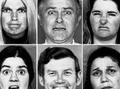 différentes expressions visage