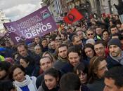 Après Syriza Grèce, parti Podemos rassemble personnes Madrid